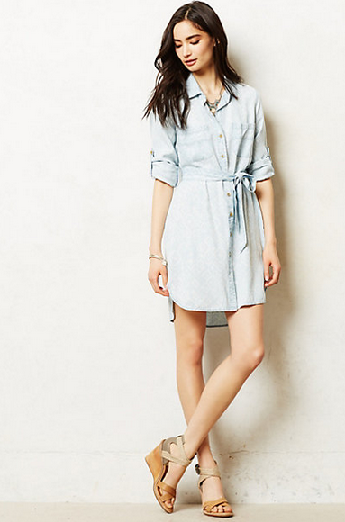 Ikat chambray shirtdress, originally $148, now $89.95! (Also, if someone wanted to buy me this dress for my birthday I would not object AT ALL.)