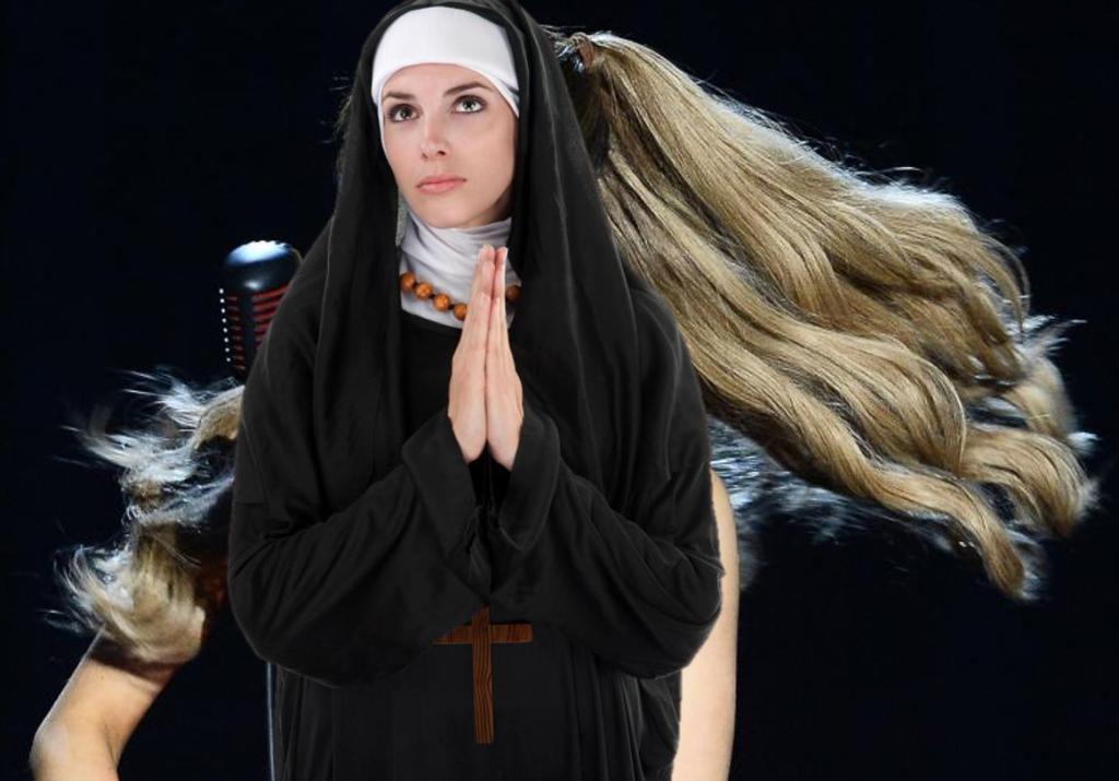 Ariana Grande Ponytail Nun