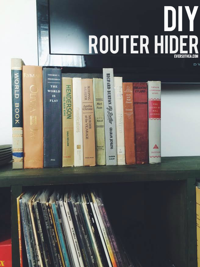 Router book hider